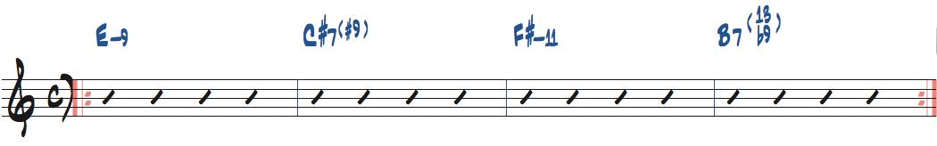 Ed MottaのSmileのアドリブセクションコード進行楽譜