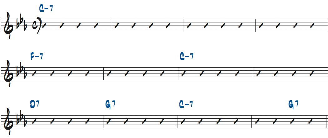 Baby's Minor Lope(ベイビー・フェイス・ウィレット作曲)のコード進行楽譜