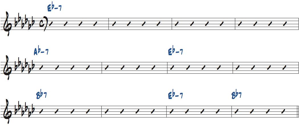 Desmond Blue(ポール・デスモンド作曲)のコード進行楽譜