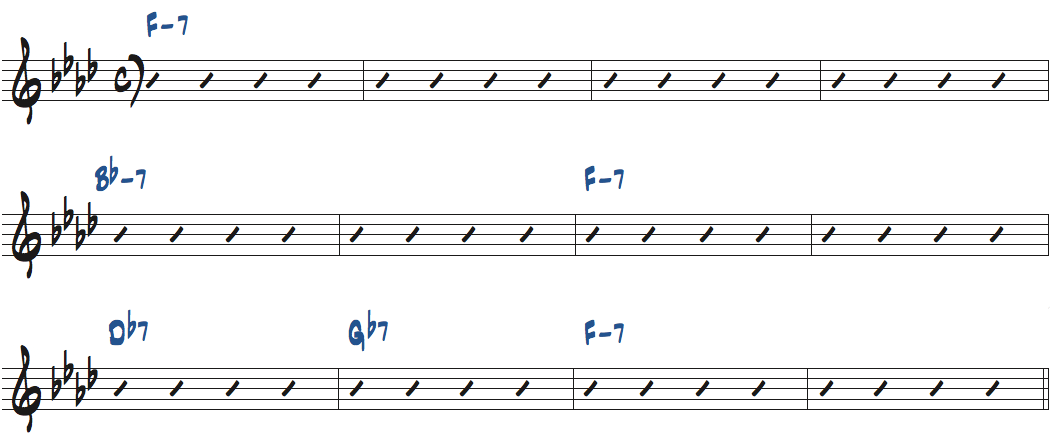 Interplay(ビル・エヴァンス作曲)のコード進行楽譜