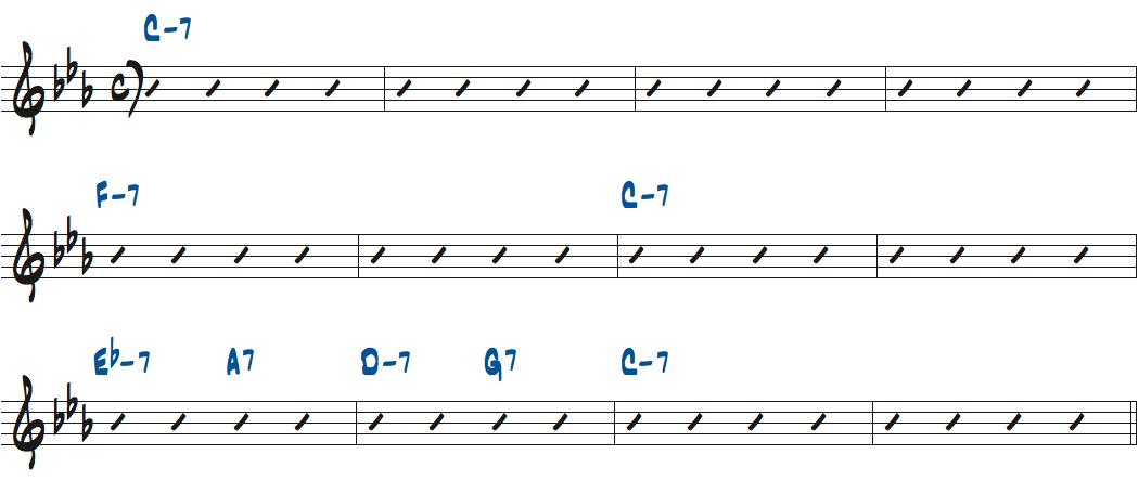 New-Ma(リー・モーガン作曲)のコード進行楽譜