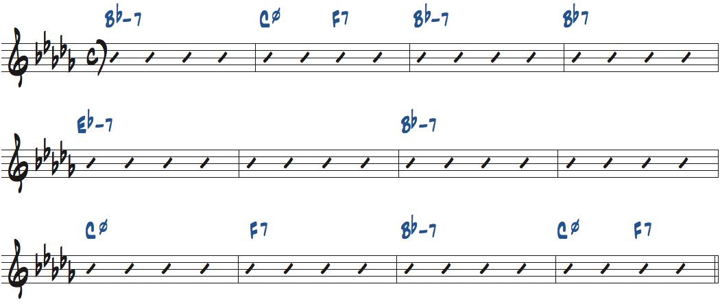 One for Daddy-O(ナット・アダレイ作曲)のコード進行楽譜