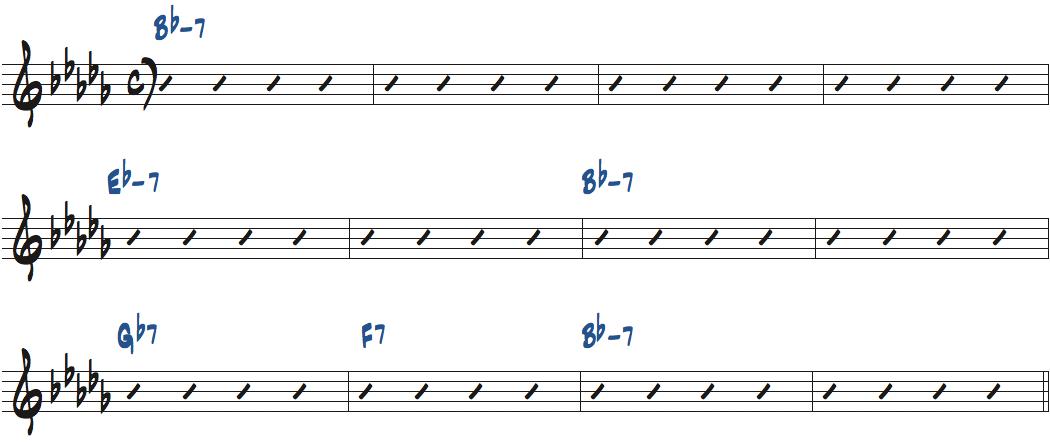 Pursuance(ジョン・コルトレーン作曲)のコード進行楽譜