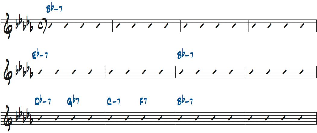 Raggedy Ann(リー・モーガン作曲)のコード進行楽譜