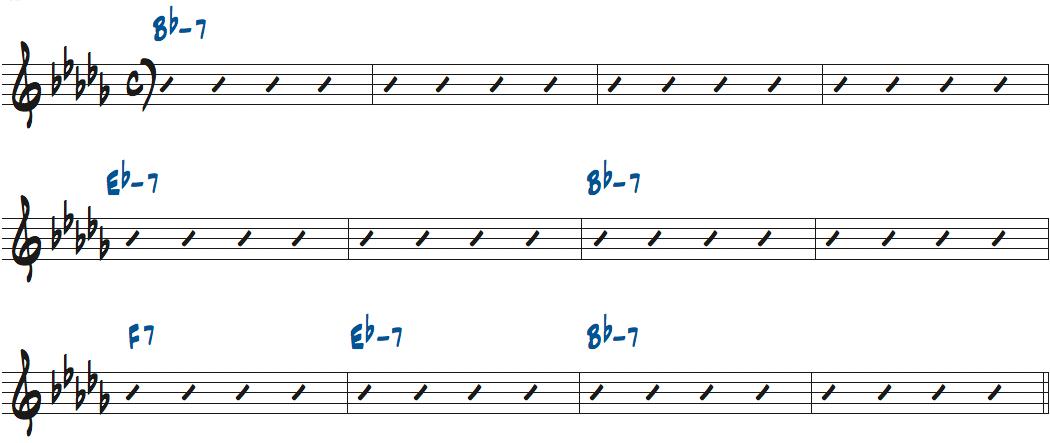 The Midget(リー・モーガン作曲)のコード進行楽譜