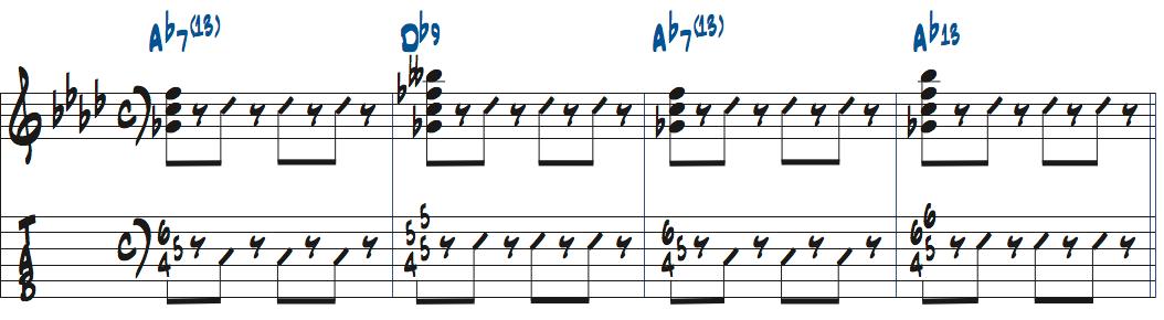 テンションコードを使った楽譜