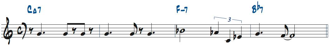 Lady Birdのメロディ楽譜