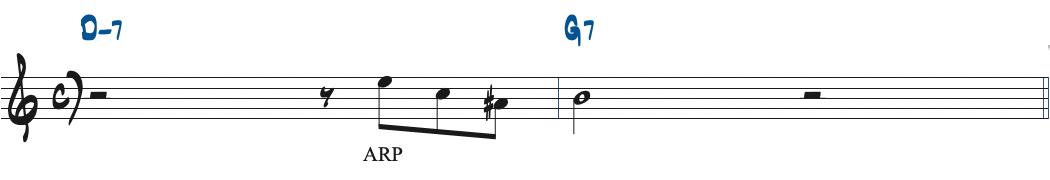 60ページのG7のターゲットノートにアルペジオを加えた楽譜