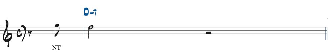 61ページのアレンジする前の楽譜
