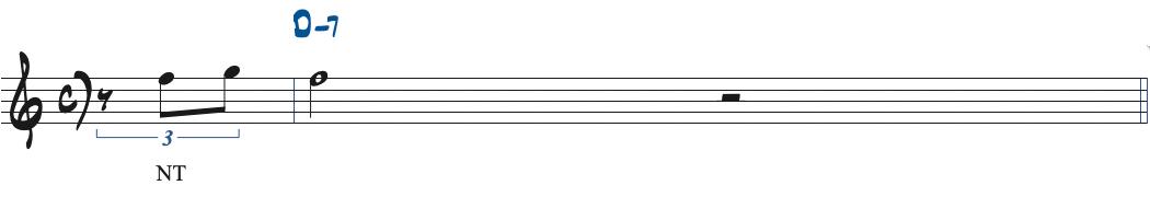 61ページのアレンジする前の楽譜にネイバートーンを加えた楽譜