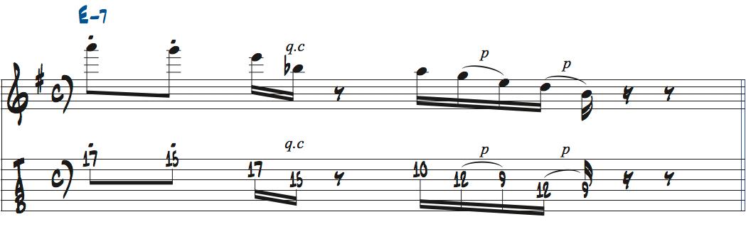 ブルースリック楽譜