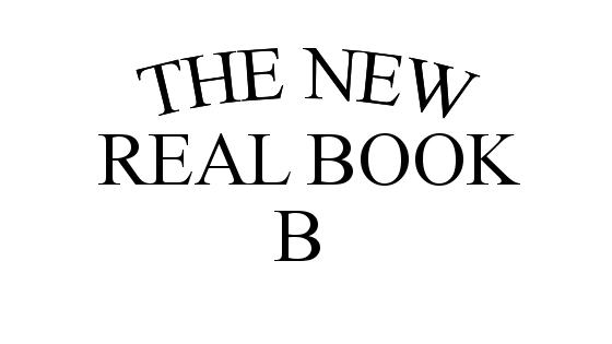 Bからはじまる曲(THE NEW REAL BOOK Vol.1)