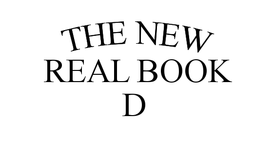 Dからはじまる曲(THE NEW REAL BOOK Vol.1)