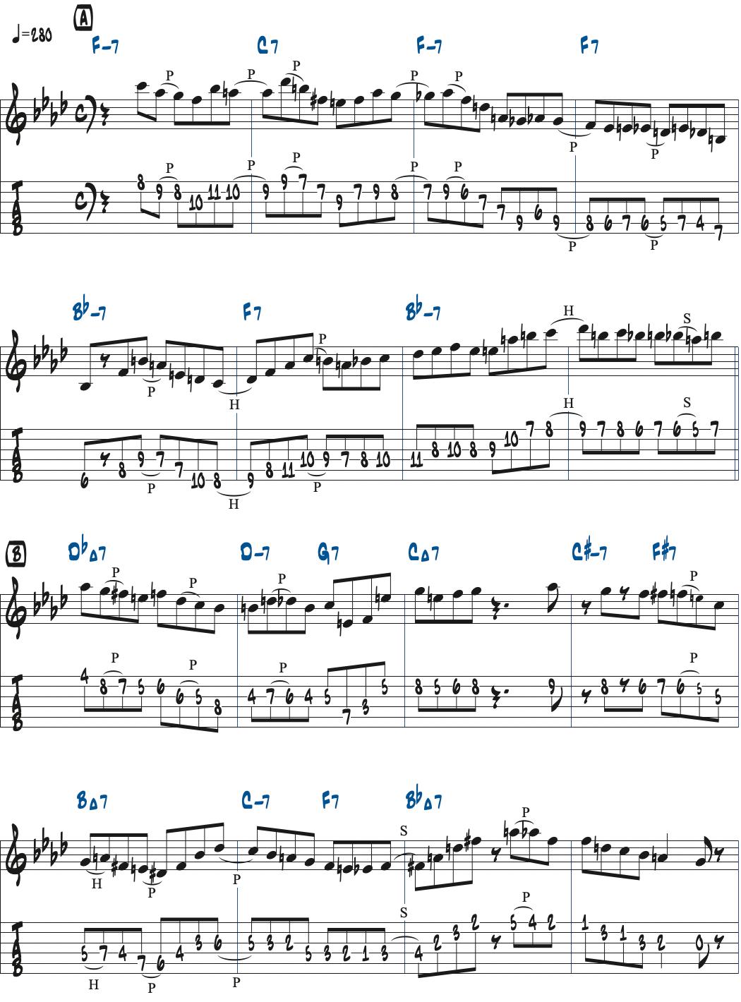 Cecil Alexanderが弾くAiregin楽譜ページ1
