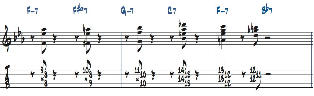 ジムホールのWithout a Songアドリブ1コーラス目楽譜ページ5