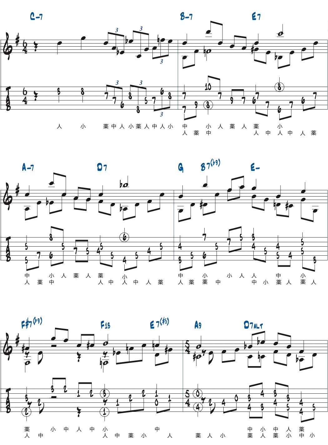 Jimmy Wybleエチュード2楽譜ページ1