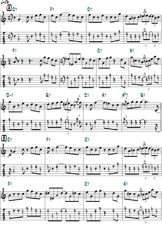 relaxin at camarilloのメロディ楽譜ページ1