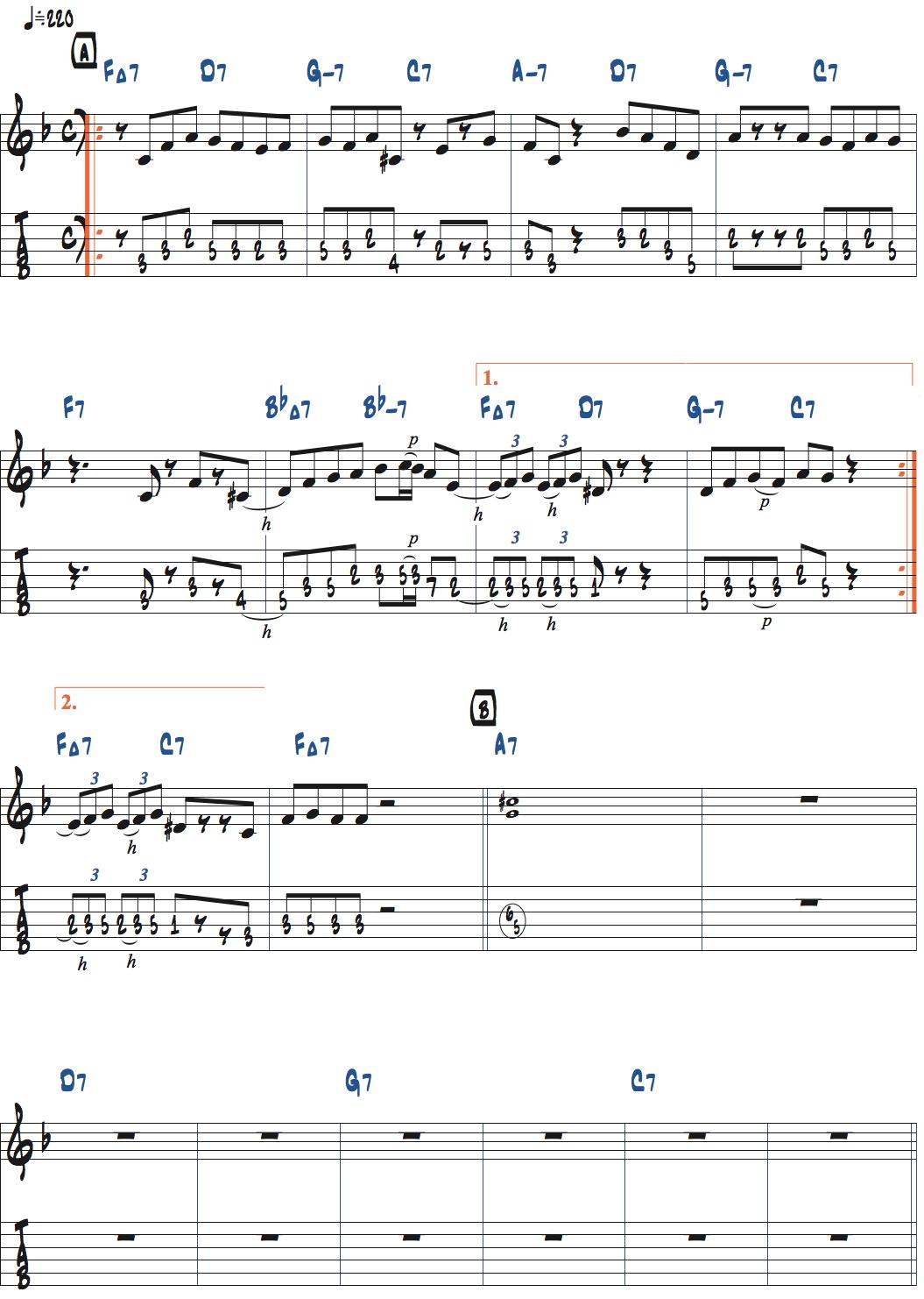 ピーターバーンスタインのDexterity前テーマ・メロディ楽譜ページ1